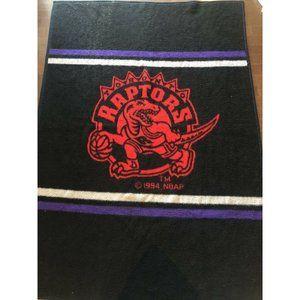 Vintage Biederlack Blanket Toronto Raptors Acrylic NBA inaugural Season 75x53